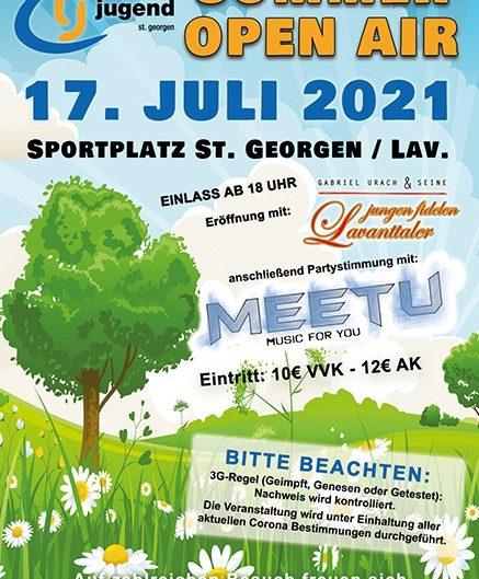 Sommer OpenAir <br> <h3><b>LJ St.Georgen</h3></b> <br> 17.07.2021